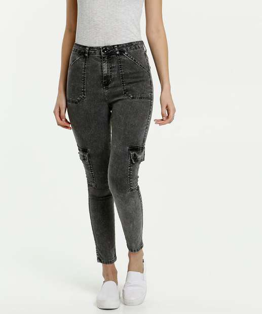 Image_Calça Feminina Jeans Cargo Marisa