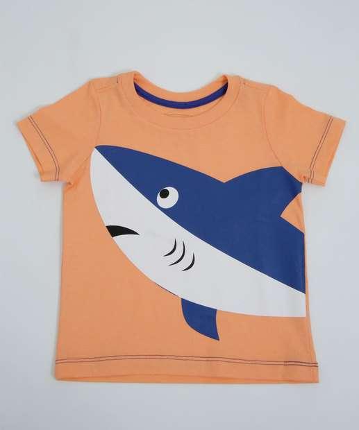 Image_Camiseta Infantil Manga Curta Tubarão MR Tam 1 a 4