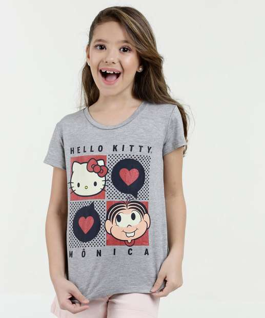Image_Blusa Infantil Estampa Hello Kitty e Monica Sanrio