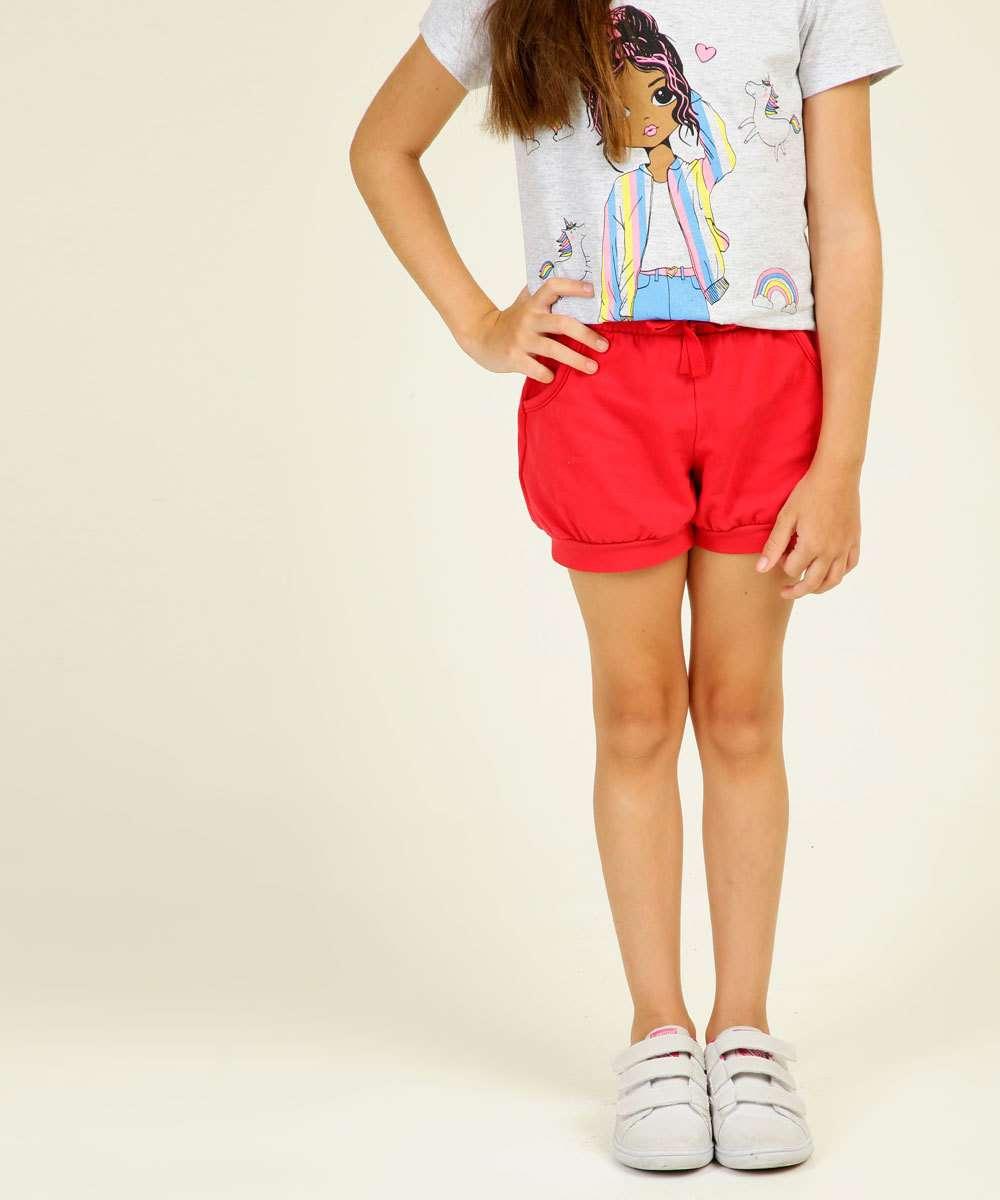 Short Infantil Moletinho Marisa Tam 1 a 4