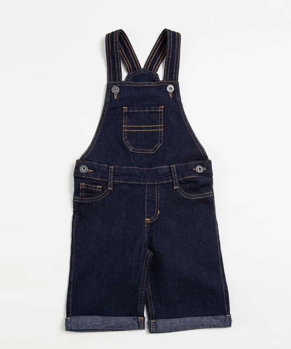 Macacão Infantil Jeans Marisa