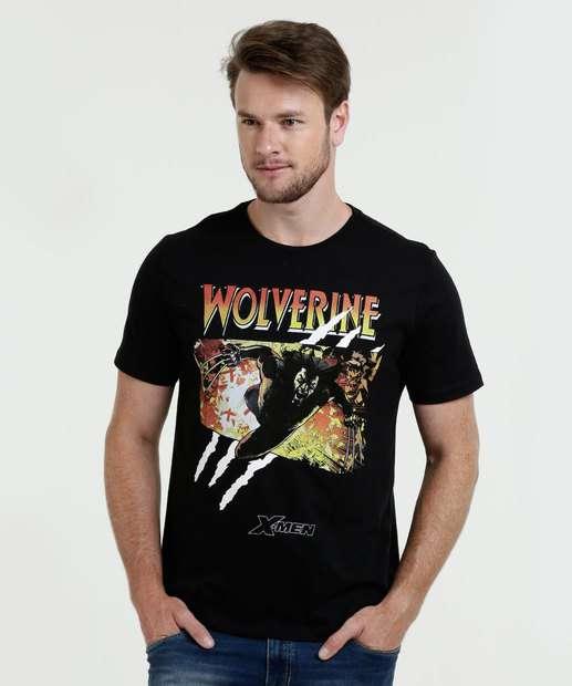 Image_Camiseta Masculina Estampa Wolverine Manga Curta Marvel