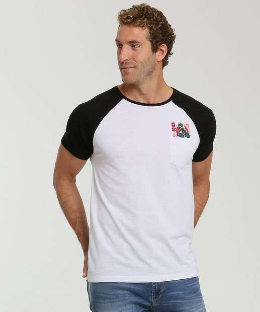 Image_Camiseta Masculina Estampa Dragão Manga Curta MR