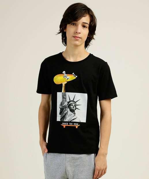 Image_Camiseta Juvenil Estampada Manga Curta MR Tam 10 a 16