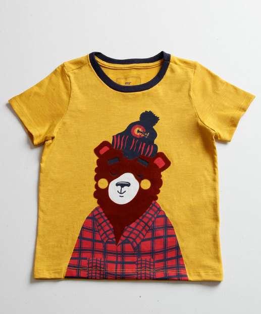 Image_Camiseta Infantil Estampa Urso Manga Curta MR