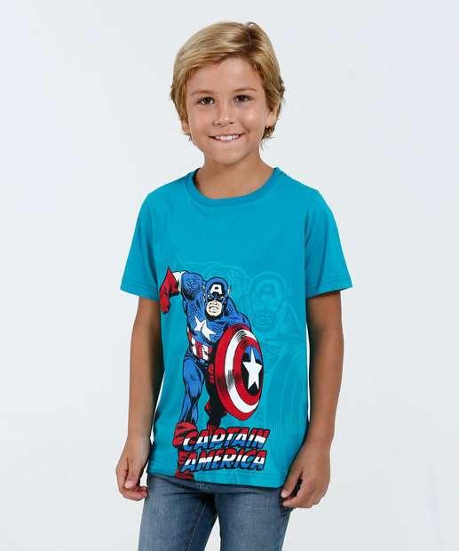 Image_Camiseta Infantil Manga Curta Capitão América Marvel