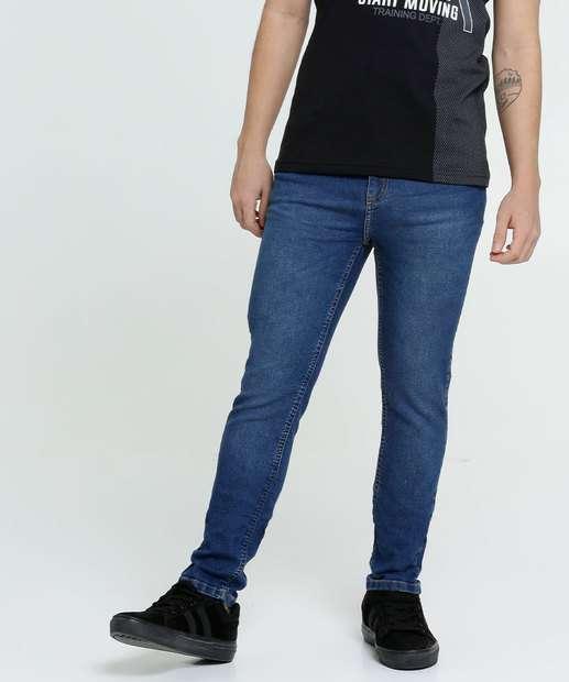 Image_Calça Juvenil Jeans Slim Stretch MR Tam 10 a 16