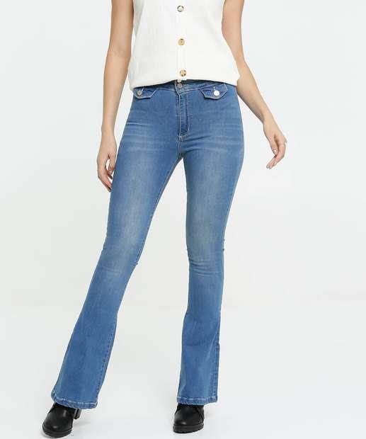 Image_Calça Flare Feminina Stretch Zune Jeans