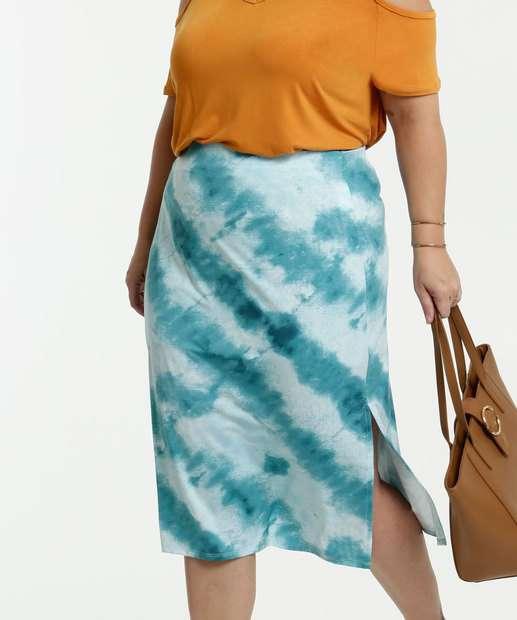 Image_Saia Feminina Midi Estampa Tie Dye Plus Size Marisa