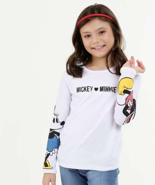 Image_Blusa Infantil Estampa Minnie e Mickey Manga Longa Disney
