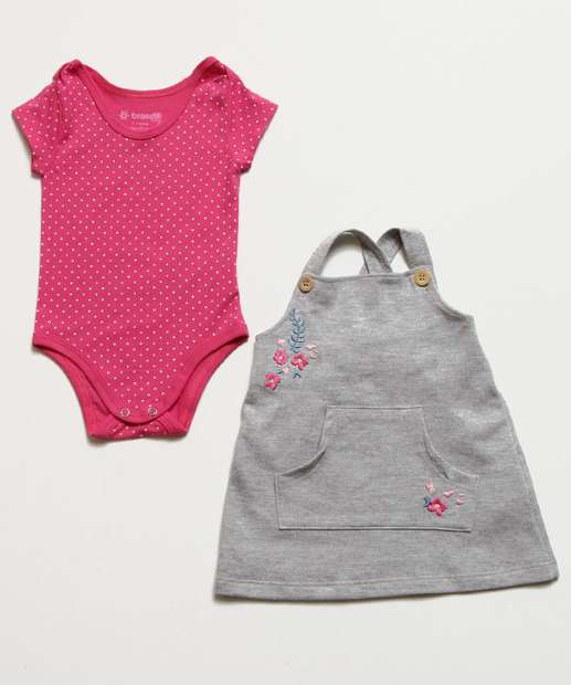 Image_Conjunto Infantil Bebê Bordado Floral Brandili