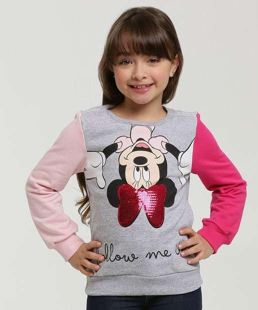 Image_Blusão Infantil Moletom Minnie Paetês Disney