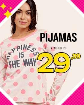 Pijamas a partir de R$29,99