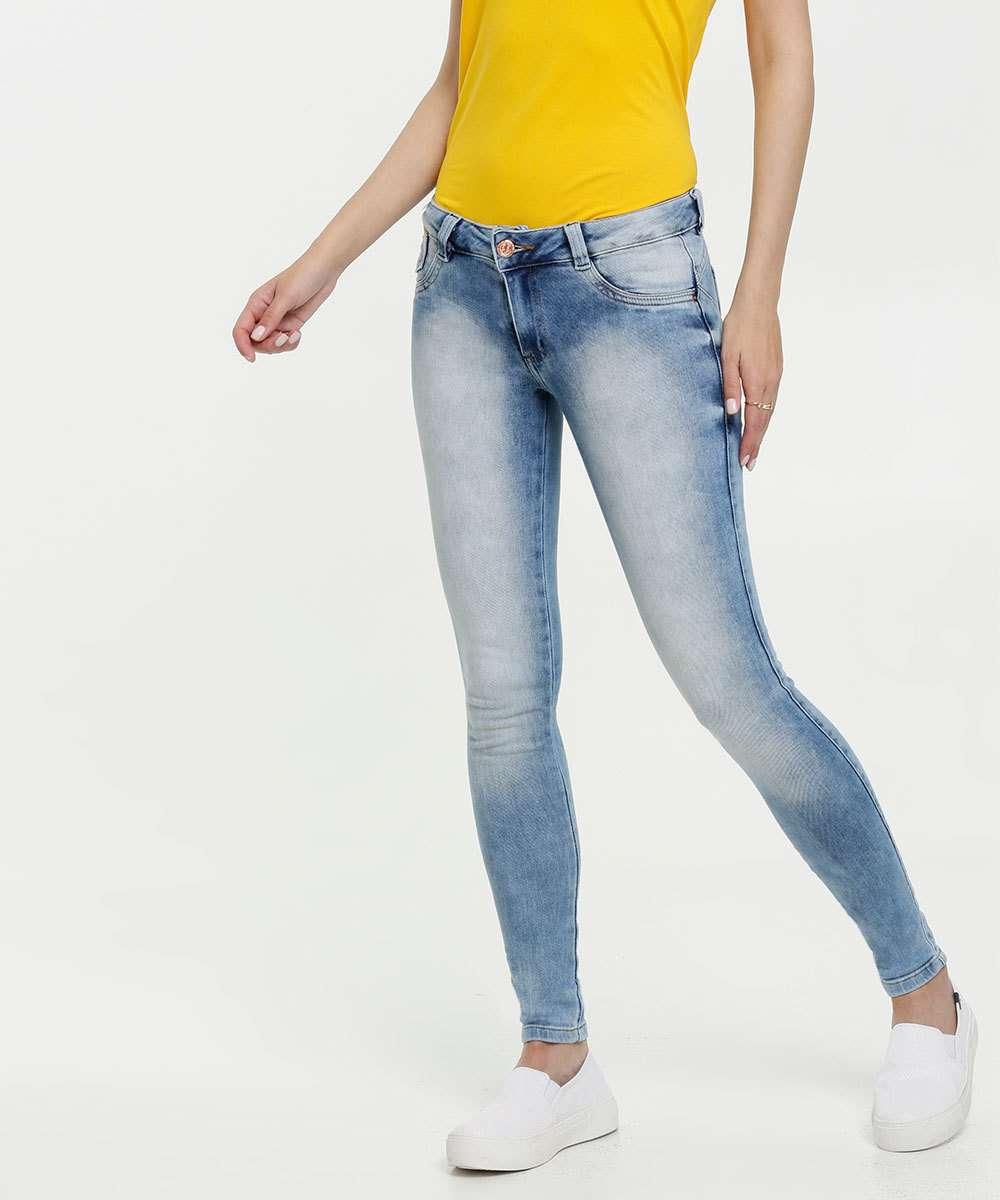 Calça Jeans Skinny Feminina Cintura Baixa Biotipo