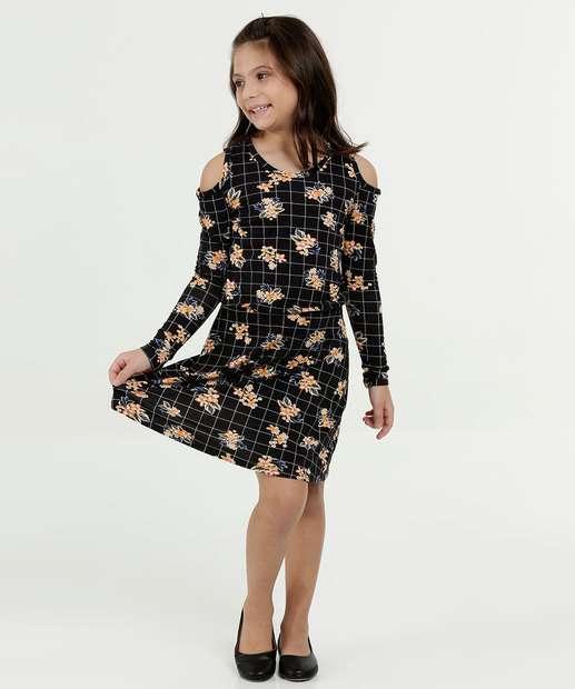Image_Vestido Infantil Open Shoulder Estampa Floral Marisa