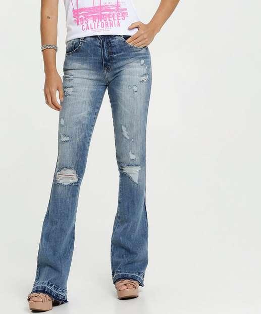 Image_Calça Feminina Jeans Destroyed Flare Biotipo