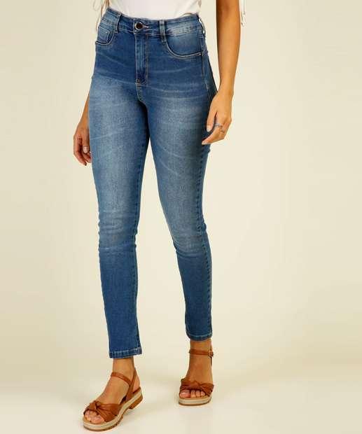Image_Calça Jeans Skinny Feminina Cintura Alta Sawary