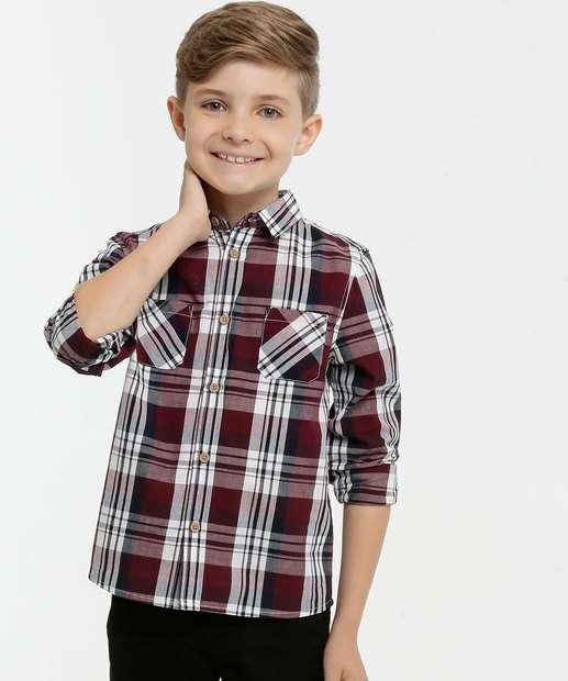 Image_Camisa Infantil Xadrez Manga Longa MR