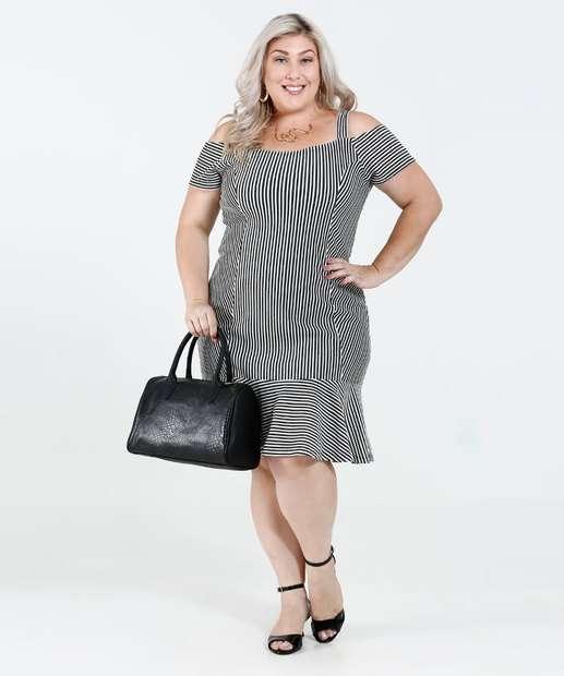 Image_Vestido Feminino Plus Size Open Shoulder Listras Lurex Marisa