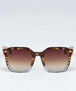 Óculos de Sol Feminino Quadrado Estampa Animal Print Marisa