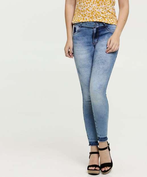 Image_Calça Jeans Skinny Barra Desfiada Feminina Biotipo