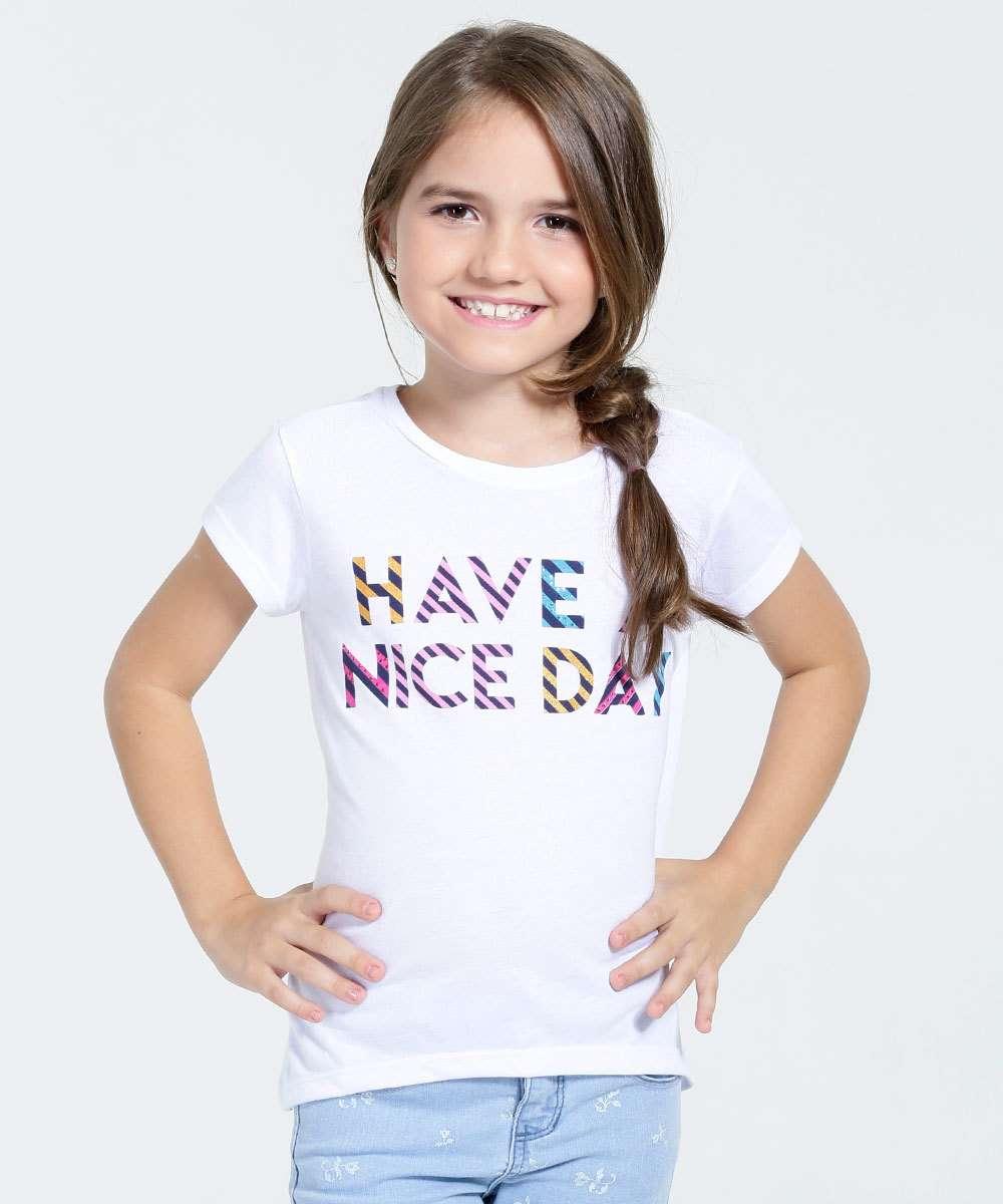 Blusa Infantil Estampa Frase Marisa