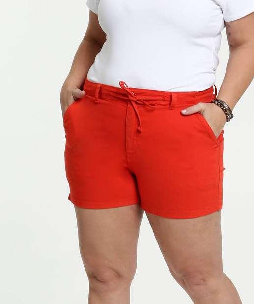 Image_Short Feminino Sarja Amarração Plus Size