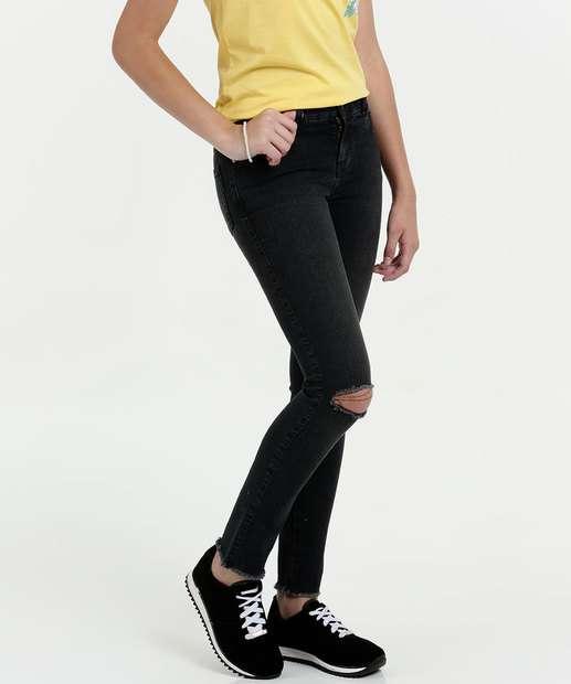 Image_Calça Juvenil Jeans Rasgo Skinny Marisa