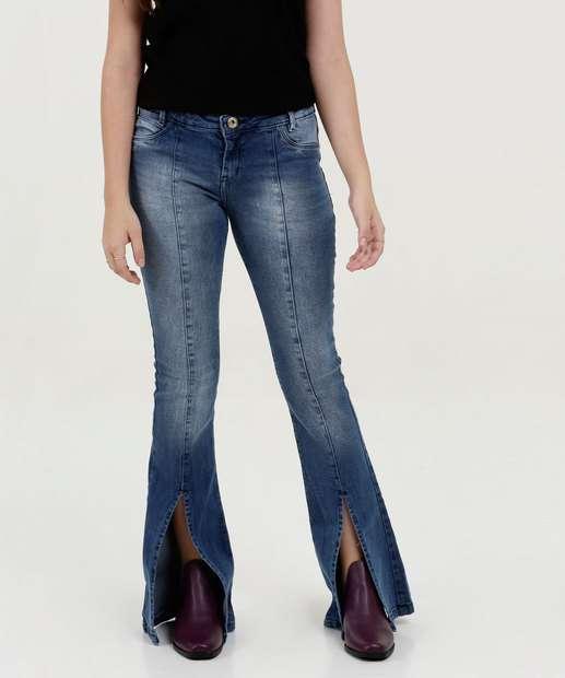 Image_Calça Juvenil Jeans Flare Fenda