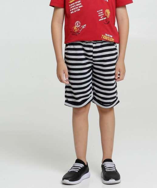Image_Bermuda Infantil Moletinho Listrada