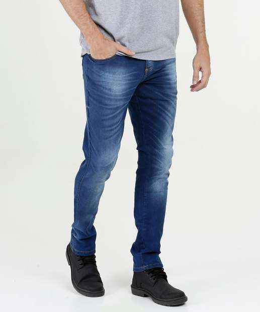 79ea923fe3b Calça Masculina Jeans Skinny Stretch Biotipo