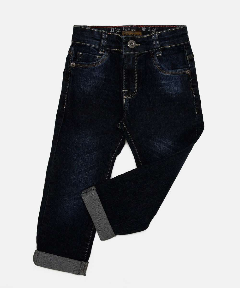 Calça Infantil Jeans Barra Dobrada