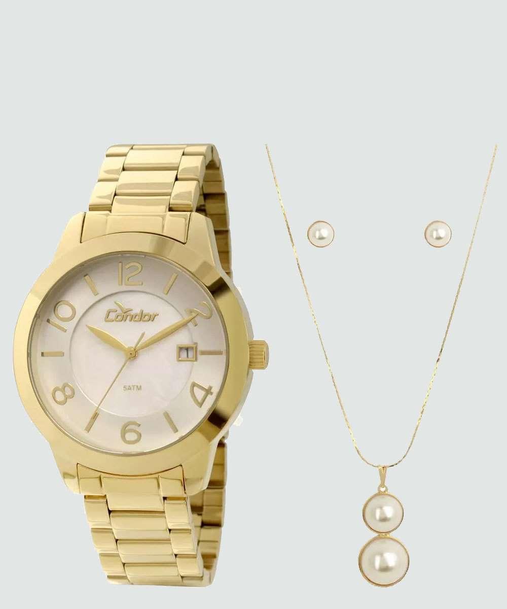 Kit Relógio Feminino Condor CO2115TJK4B