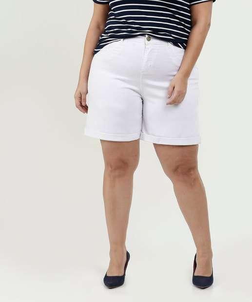 Image_Bermuda Feminina Sarja Plus Size Barra Dobrada Marisa