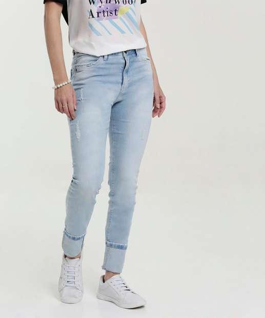 Image_Calça Feminina Skinny Puídos Five Jeans