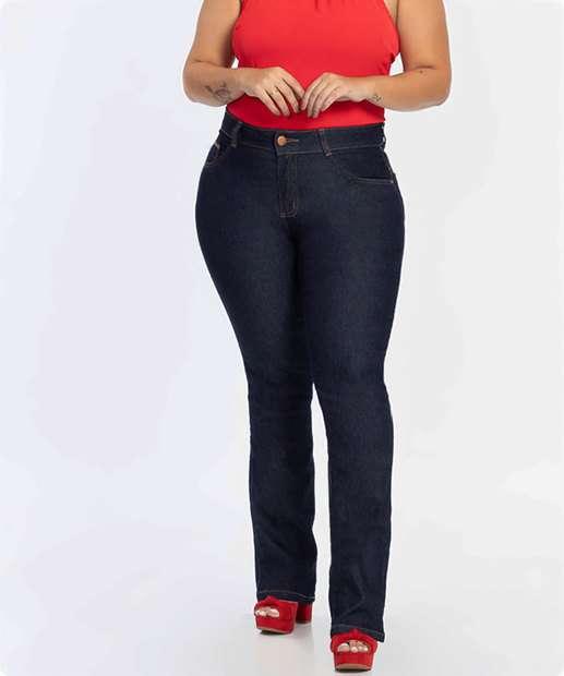 Image_Calça Jeans Boot Cut Feminina Plus Size Biotipo