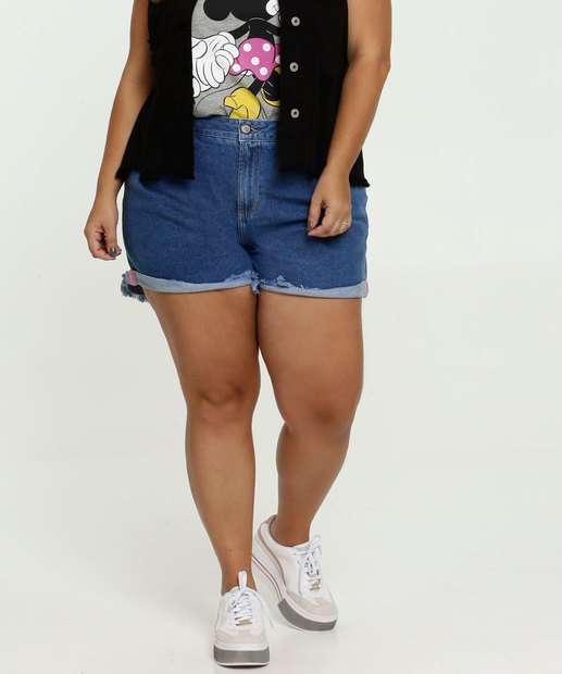 Image_Short Feminino Jeans Bolsos Plus Size Marisa