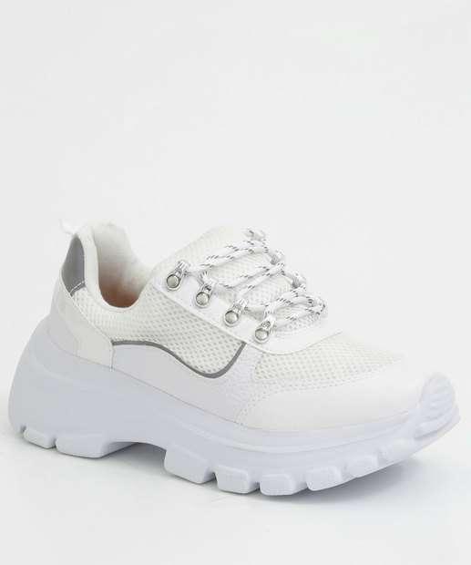 Image_Tênis Feminino Chunky Sneaker Recorte Metalizado Vizzano