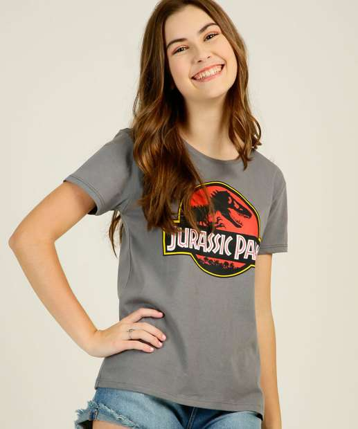 Image_Blusa Juvenil Estampada Jurassic Park Universal Tam 10 a 16