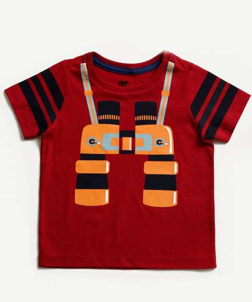 Image_Camiseta Infantil Estampa Binóculos Manga Curta MR