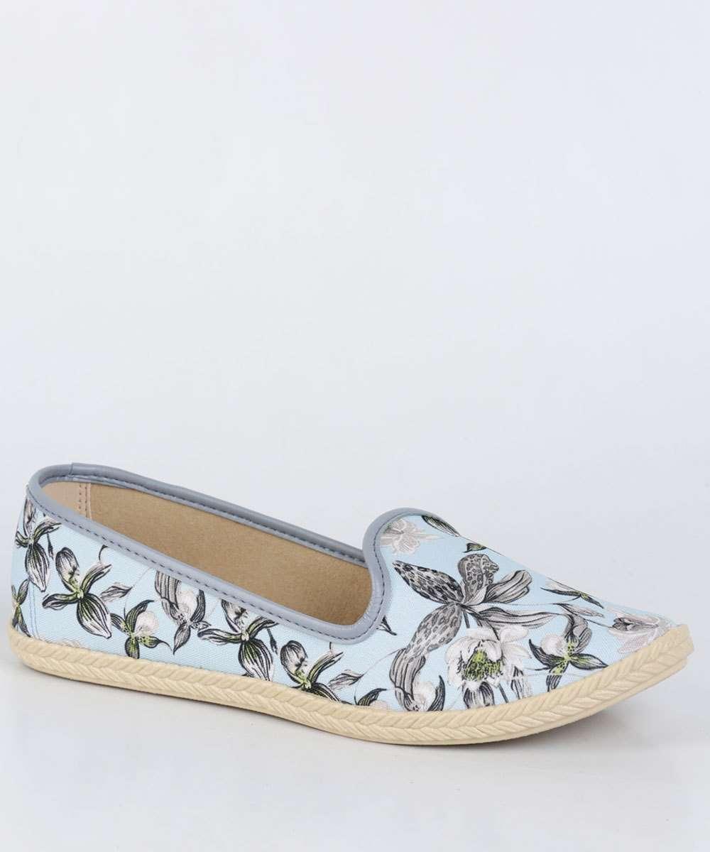 Sapatilha Feminina Slipper Floral Moleca 5287124