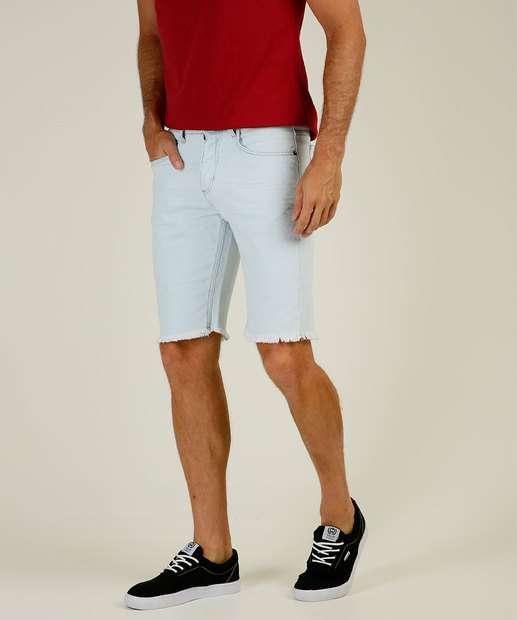 Image_Bermuda Masculina Jeans Delavê Barra Desfiada MR