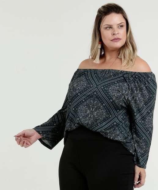 Image_Blusa Feminina Estampada Plus Size Ombro a Ombro Marisa
