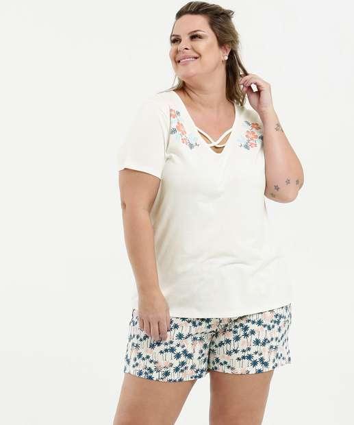 Image_Pijama Feminino Strappy Estampa Floral Plus Size Marisa