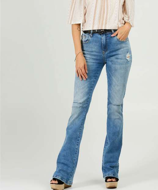 Image_Calça Jeans Destroyed Flare Feminina Disparate
