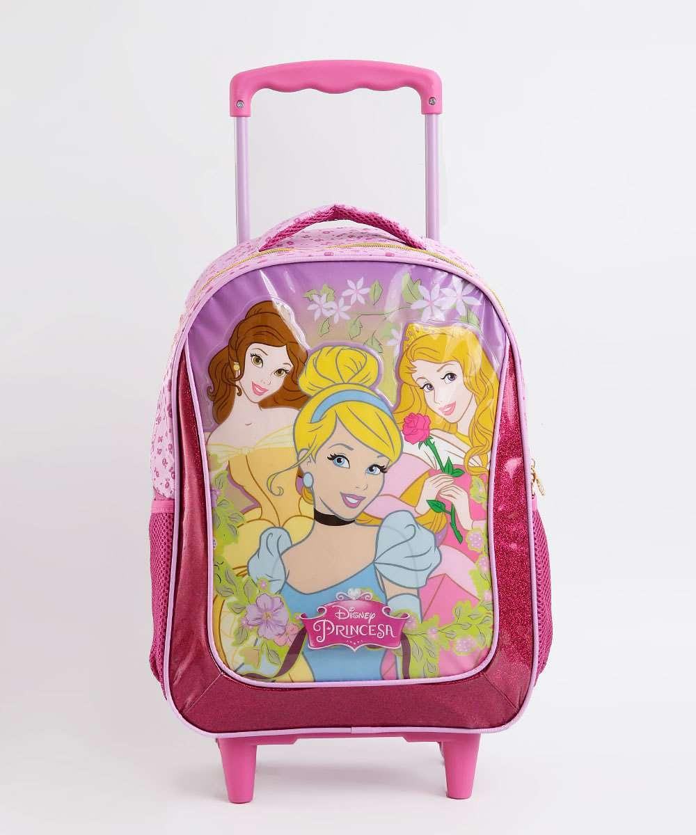 97e79095a Menor preço em Mochila Escolar Infantil Rodinha Estampa Princesas Disney