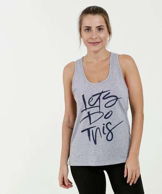 43a0d6204 Regata Feminina Fitness Estampa Frontal Marisa