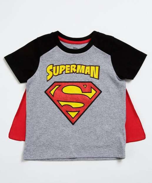 Image_Camiseta Infantil Estampa Super Homem Capa Liga da Justiça