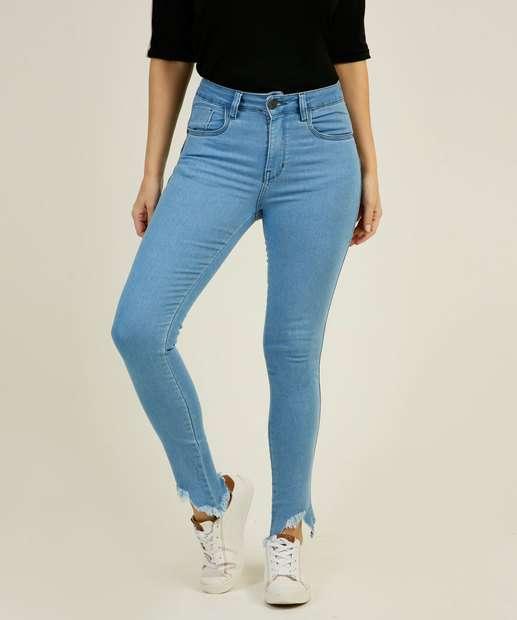 Image_Calça Skinny Feminina Barra Desfiada Zune Jeans