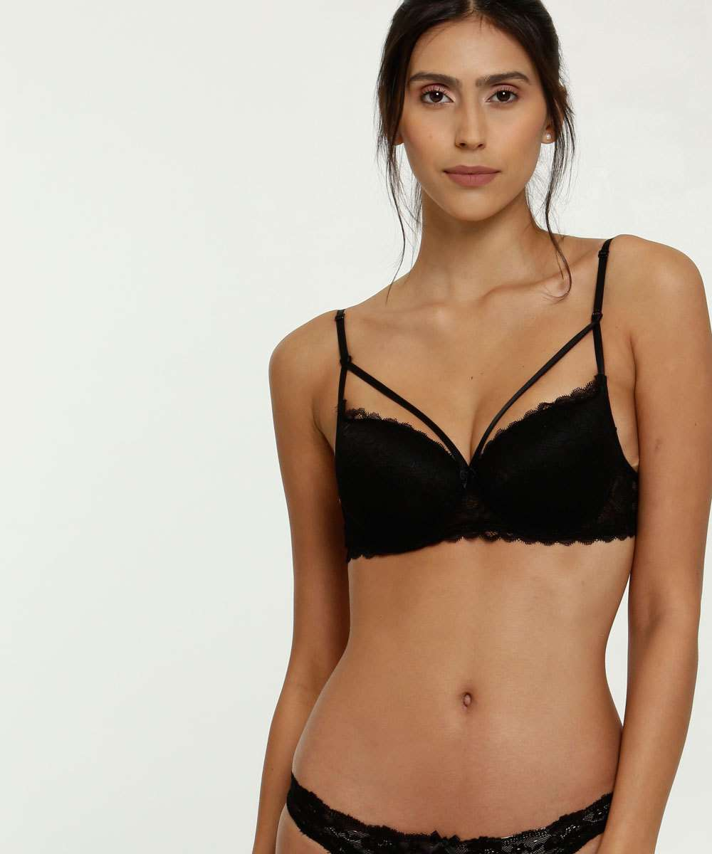 Sutiã Feminino Strappy Com Base Renda Lucitex